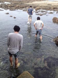 合宿_葉山_朝の海