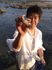 葉山_海_カニ